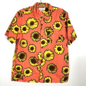 Urban Outfitters Sunflower Button Front Shirt L